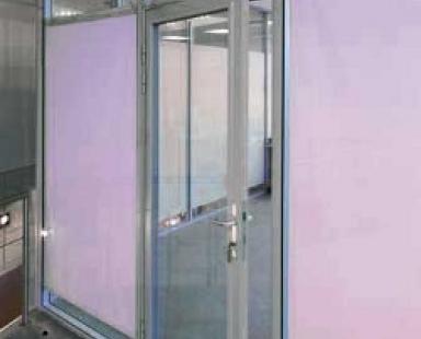 распашная алюминиевая дверь для офиса