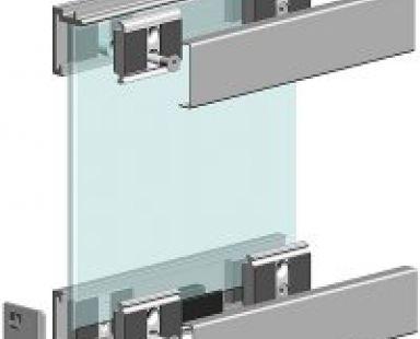зажимная система для стеклянной перегородки
