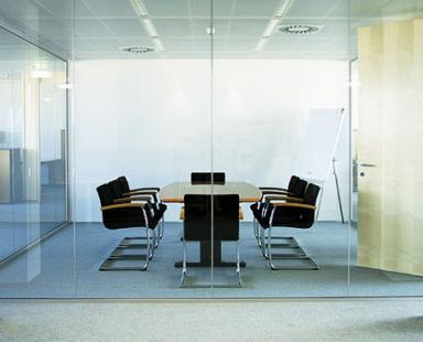 офисные перегородки из цельного стекла
